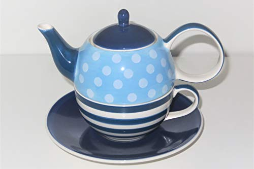 Tea for one Set 'Oke' Keramik, 4-teilig Kanne: 0,4 l, Tasse: 0,2 l