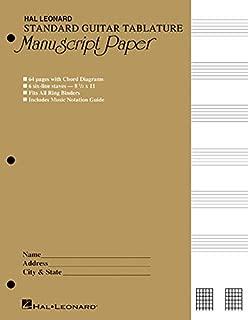 Guitar Tablature Manuscript Paper - Standard