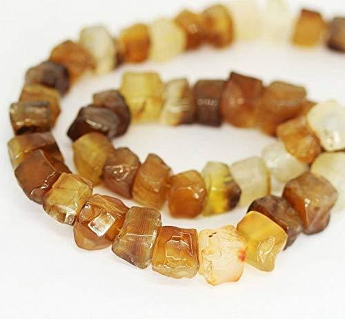 Verkoop op 65% Uit juweel kralen Honing Geel Agaat Glad Ruw Gehamerd Vierkante Doos Losse Kralen Strand 22