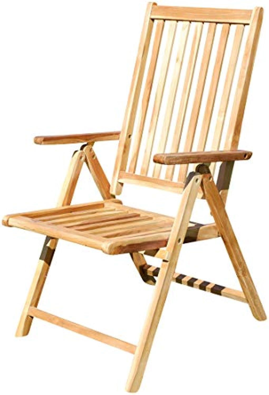 ASS Echt Teak Hochlehner Gartensessel Gartenstuhl Sessel Holzsessel Klappsessel Gartenmbel 7fach Verstellbar Holz Sehr Robust Modell  Summer von