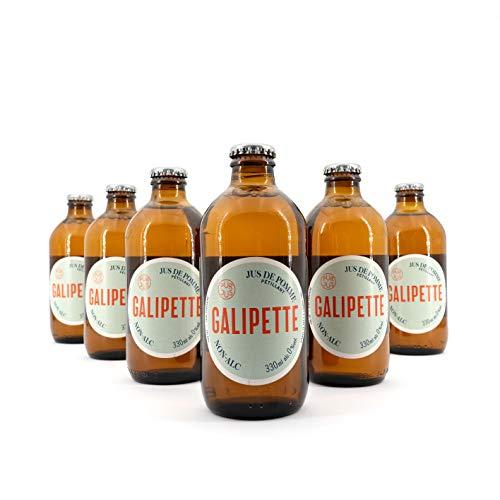 Galipette Cidre 0% - 6x 330 ml - alkoholfreier Apfelwein, Cider ohne Alkohol, süß-herber Apfelschaumwein, Sidre aus Frankreich, Most ohne Zuckerzusatz & Süßungsmittel, glutenfrei & vegan