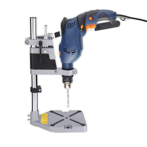 Soporte para taladradora, soporte ajustable, broca de mesa soporte de taladro de 43 mm o 38 mm, adecuado para bricolaje o profesional Max Profundidad de perforación 60 mm