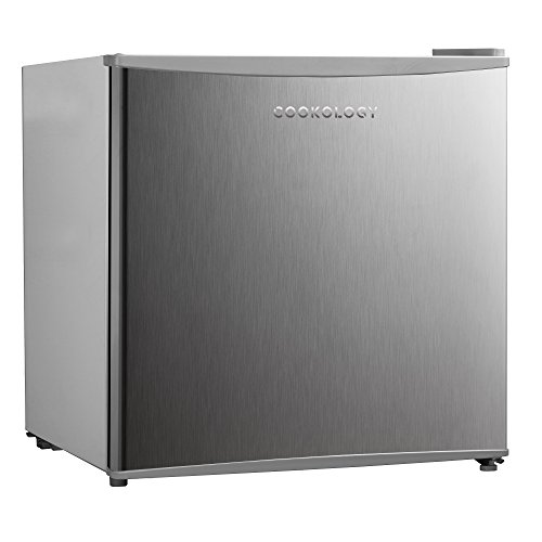 Cookology MFR45SS 46 Litre Silver, Brushed Stainless Steel Look Tabletop Mini Fridge & Ice Box