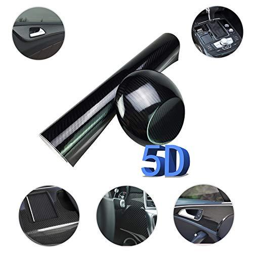 GOLO 1.6 * 4.9FT zelfklevende 5D Beschermende autofolie hoogglans sticker auto sticker aftrekplaat voor telefoon/auto/pc/motorfiets/fiets/gitaar, zwart