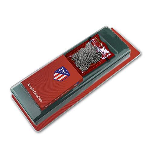 Fournier 1044181 officiële blisterverpakking van de Atlético de Madrid set van Mus met 40 kaarten, tapijt en arracos in zak van Antelina, kleur matras