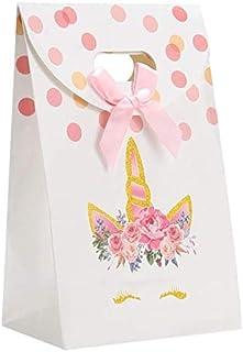 12Pcs Glitter Unicorn Party Favor Treat Bags Candy Bags, Unicorn Paper Gift Bags, Unicorn Party Supplies