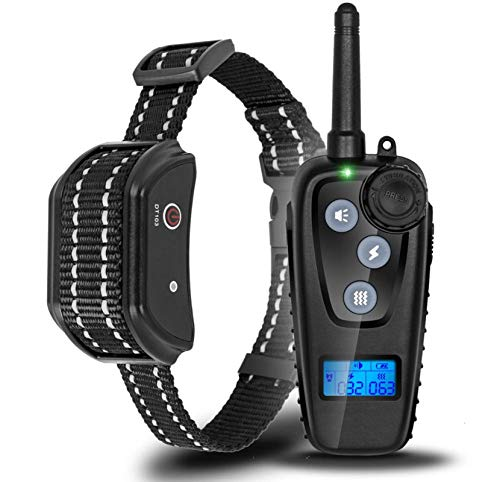 N&F Waterproof Rechargeable Electric Shock Collar Dog Training Collars Remote Control Pet bite Trainer No Bark Stop Device aids For1dog