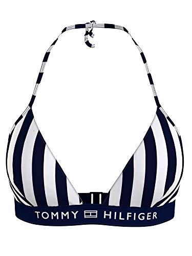 Tommy Hilfiger Damen Bikini Triangle Fixed UW0UW02713-01U Blau M