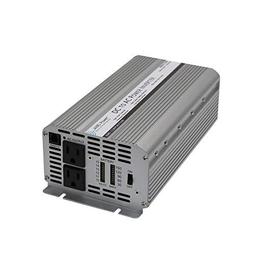 AIMS Power 1250 Watt / 3100 Watt Peak DC to AC Power Inverter Digital Power Meters Optional Remote Port