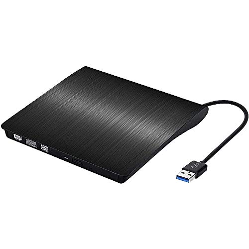 Grabadora DVD CD externa USB 3.0, Lector externo DVD CD, Ultra Slim...