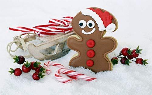 Puzzel Für Erwachsenen Puzzle 1000 Teile Kind Puzzles-Kekse Zuckerstange Weihnachten-Aus Holz Puzzle Panorama Art DIY Leisure Game Fun Geschenk Spielzeug Geeignete Freunde Familie