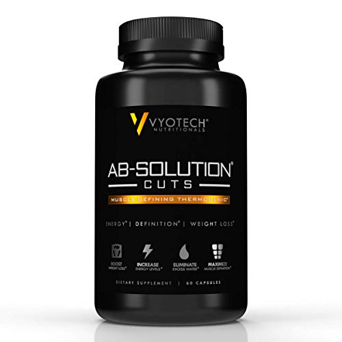 Vyotech Nutritionals Ab-Solution Cuts Thermogenic Fat Burner, Energy Booster, Natural Diuretic Water & Weight Loss Supplement, Diet Pills