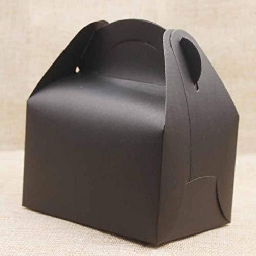 Caja de papel Kraft grande de 10 piezas/lote, regalos con asa, caja...
