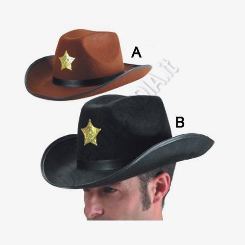 CARNIVAL TOYS S.R.L., ADULTE Un chapeau de cowboy BROWN
