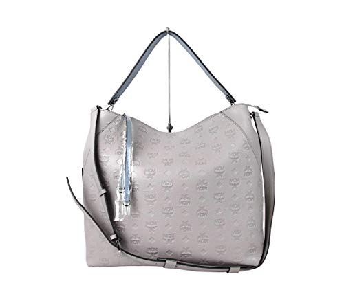 Made of leather; Detachable and Adjustable Shoulder Strap Interior features 2 slip pockets, 1 zip pocket; Zip Top Closure Measurements: Length: 13.5; Height: 12.5; Depth: 5.75; Width: 13.5; Strap Drop: 13.5-21 Inches Original MCM tags, dust bag and a...