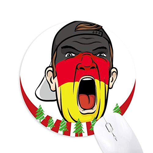 Deutschland Flag Facial Makeup Mask Screaming Cap Round Rubber Maus Pad Weihnachtsdekoration