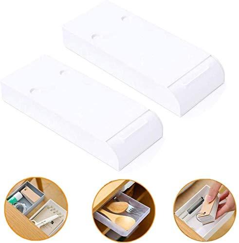FANLIU 2 PC-Punch-freie Unter Der Tisch Schublade, unter dem Tisch versteckter Paste-Art High Capacity Büro-Briefpapier-Halter-Organisatoren Fach-Art kosmetischen Aufbewahrungsbehälter.