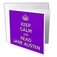 EvaDane–面白い引用–Keep Calm and Readジェーンオースティン–グリーティングカード Set of 12 Greeting Cards