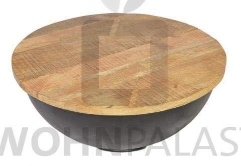 Wohnpalast Couchtisch Bowl in schwarz Abmessungen: 90 x 90 x 38 cm
