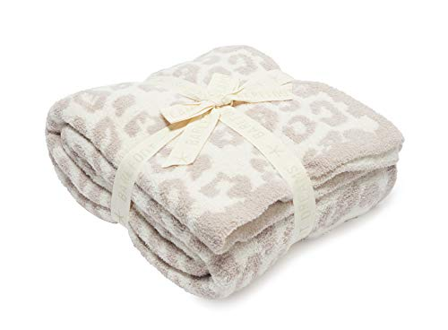 Barefoot Dreams CozyChic Barefoot in The Wild Throw Stone/Cream One Size