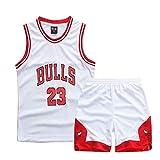 ZETIY - Juego de 2 maillot y pantalones de baloncesto para niños pequeños, Todo el año, Niños, color Blanco, tamaño 6-7 Años
