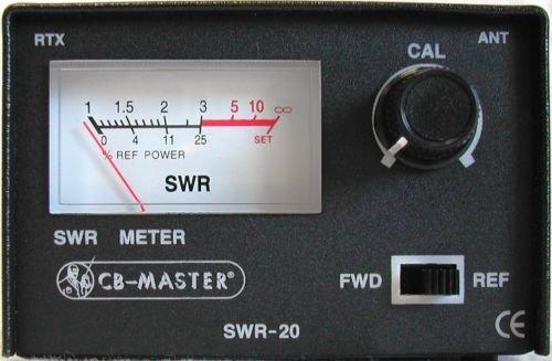 Stehwellenmessgerät, Metall, CB 26-28°Mhz, 50°Ohm, 100°W, Kabel PL/PL 50°cm