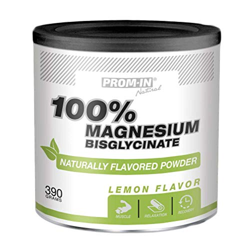 100% Magnesium Bisglycinate Naturally Flavored Powder Lemon (390 g) for Support Muscles and Nervous System
