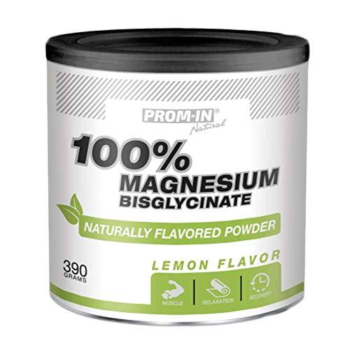 100% bisglicinato de magnesio en polvo con sabor natural a limón (390 g) para los músculos de soporte y el sistema nervioso