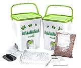 Skaza - mind your eco Bokashi Organico Küchenkomposter weiß/hellgrün