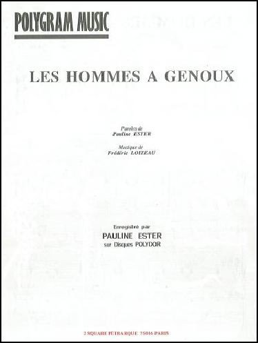 LES HOMMES A GENOUX