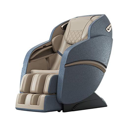 Suful-S6 Sofá de masaje, silla de masaje 3D acupuntura, relajación de masaje, relajación real, silla de masaje, multifunción de cuerpo completo, masaje inteligente, sofá amasado (azul blanco)