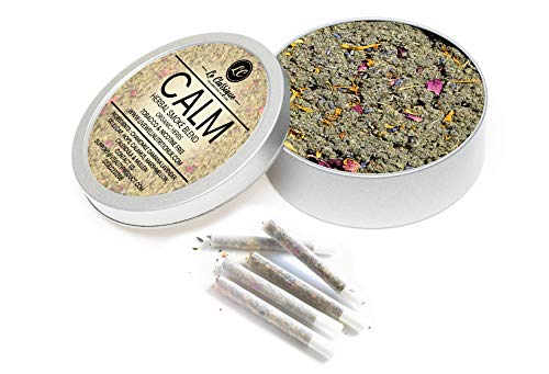 Organic Herbal Smoke Mix (Calm) 100% Nicotine Free, Herbal Smoked Mix, Can be Smoked, Mix with Your Own Herbs, or Smoke in Traditional Pipe 35g Le Classique
