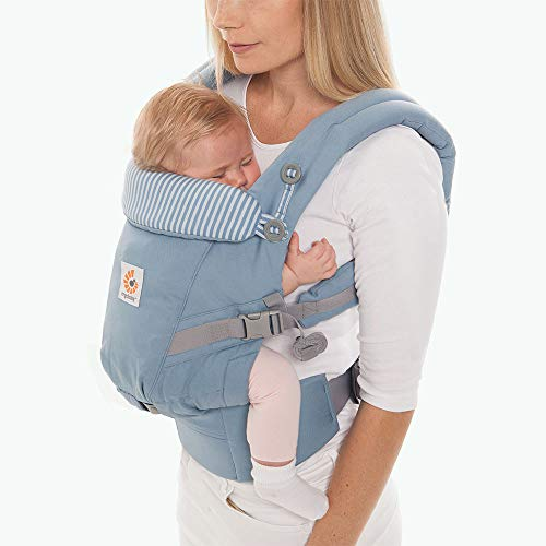 Ergobaby Adapt Ergonomic Multi-Position Baby Carrier (7-45 Pounds), Azure Blue
