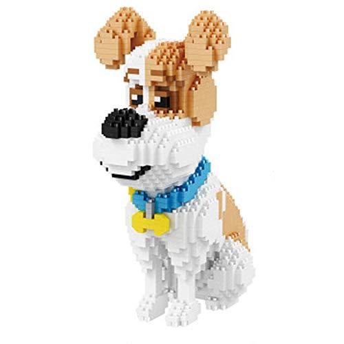 Perro Perro Salchicha Animal Modelo 3D DIY Micro Diamond Mini Edificio Nano Bloque de Juguete de Montaje de ladrillo,E
