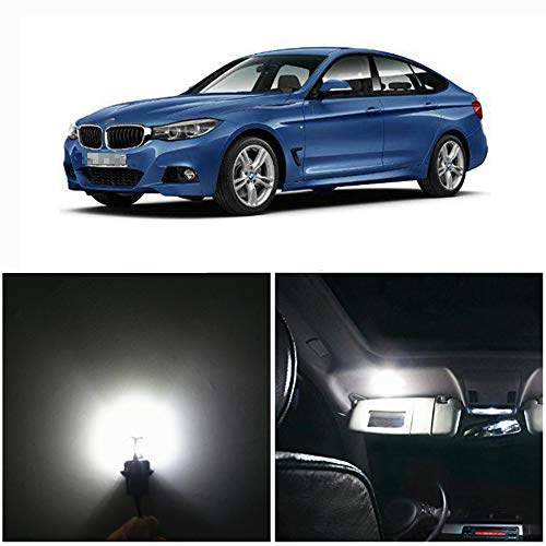 WLJH 14pieces 6000k Pure White Super Bright 2835 Chip Error Free Canbus Car LED Interior Lighting Package Kit for BMW 3 Series E90 2006-2012