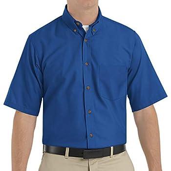 Red Kap Men s RK Poplin Dress Shirt Royal Blue SS L