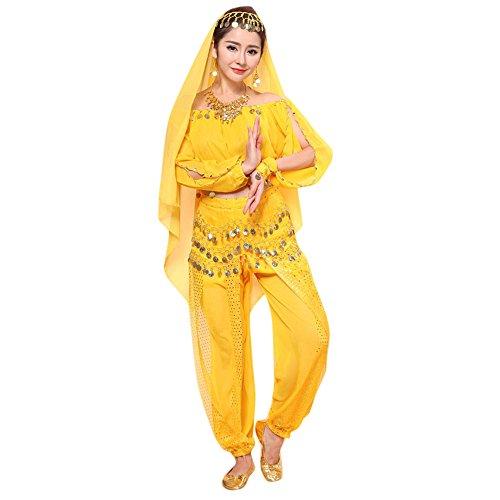 ZZZXIAN Dames kostuum pak buikdanskostuum set Indian dansjurk kleding top broek sets