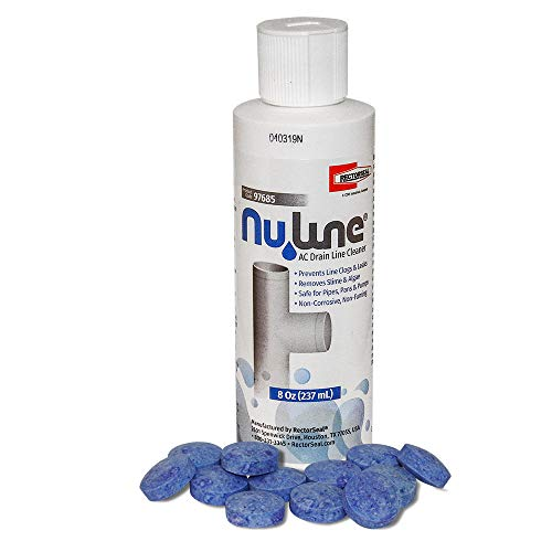 Fast Shipping! (1)-Pack NuLine HVAC Condensate 8 Ounce Nu-Line Drain Cleaner Plus (12) PT-200 Pan Tablets