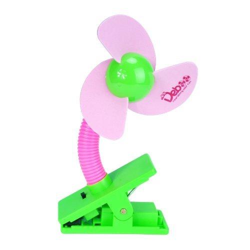 Cozyswan® Handventilator Mini Clip Batterie betriebener Kinder Ventilator Tragbarer Lüfter und Tischventilator Fan, Rosa