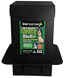 Pet Waste Wizard BioBin Pet Waste Disposal Unit, Waste Digester (100% Recycled Material, 10in Width x 18in Height)