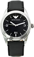 Emporio Armani Men's AR5893 Sports Black Leather Band Watch