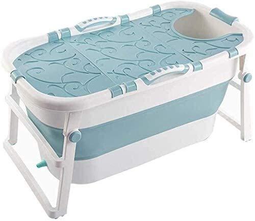 Folding badkuip Folding badkuip, Opvouwbare baby bad, bad for douchecabine Portable Opvouwbaar Badkuip, Huishoudelijke Hot Tub Multifunctionele opvouwbare bad (Color : Blue, Size : With lid)