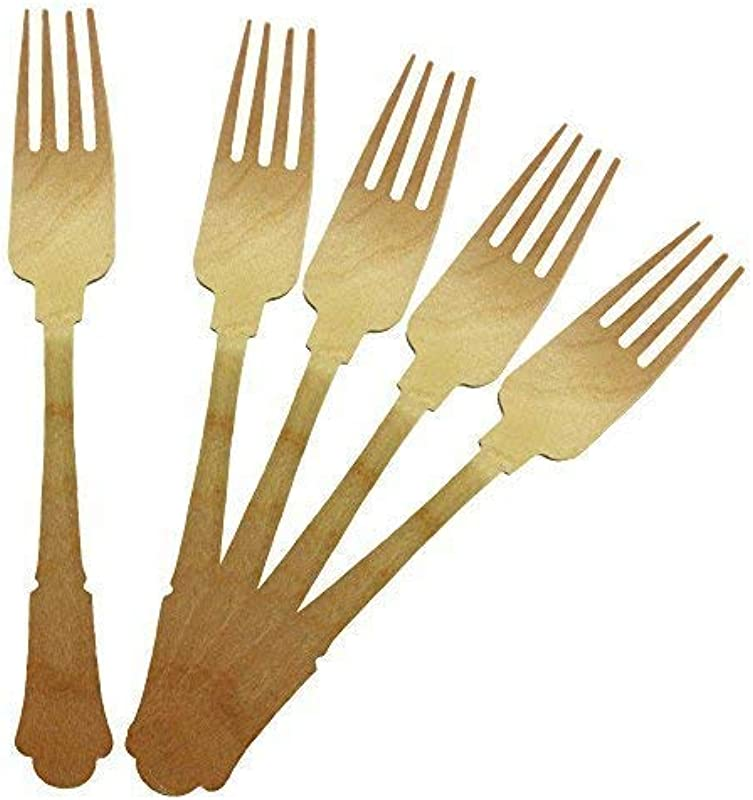 Perfectware Wood Cutlery Fork 7 75 100ct