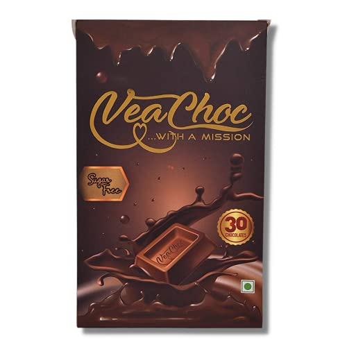Veachoc Iron Chocolates with Vitamin C and Blood Builder Supplement Organic Health Supplements for Women Men and Kids with Iron Deficiency (Sugar Free)