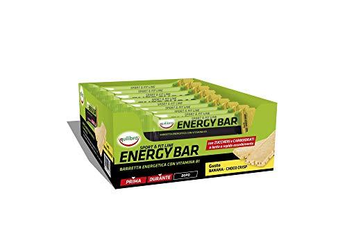 Equilibra Energy Banana & Choco Crisp, 20 Barrette da 50 g