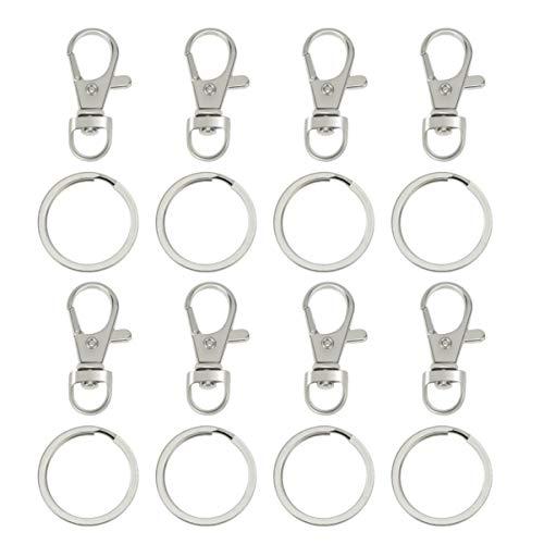 Healifty 60 unidades de cierre de mosquetón giratorio con llavero, cordón, gancho, gancho para joyas, manualidades, colgante, bolsa de coche (cinta)