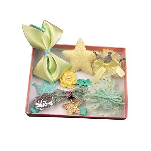 AchidistviQ - Juego de 10 pinzas para el pelo, diseño de flores, color amarillo