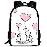 Love Elephant - Mochilas multifuncionales de gran capacidad, para senderismo, negocios, estudiantes, ir a la escuela, mochilas personalizadas