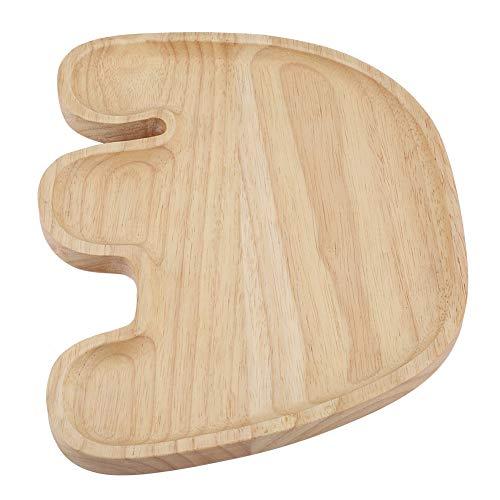 Oumefar Plato de Madera Natural Exquisita de la Forma del Elefante Lindo para la Bandeja de la porción de los Pasteles del Restaurante de los niños(Style 3)