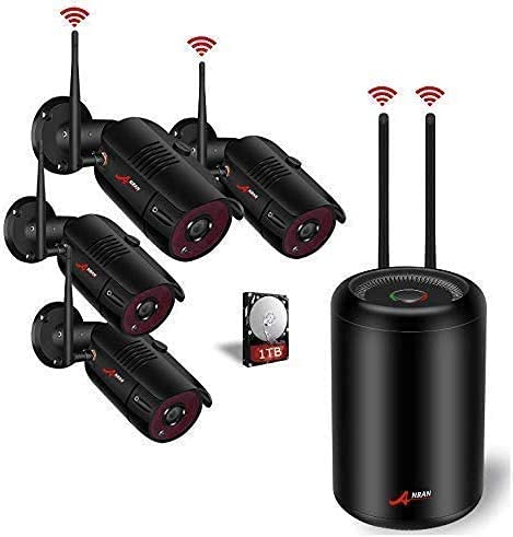 Expandable Home Wireless Surveillance Camera System, ANRAN HD 960p 8ch WiFi...